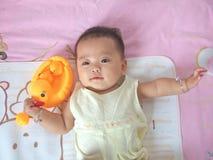 Patos bonitos del bebé y del juguete Fotografía de archivo