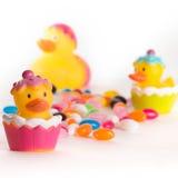 Patos da borracha de Easter Imagem de Stock