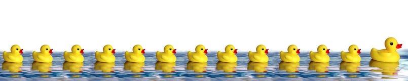 Patos de borracha ilustração do vetor