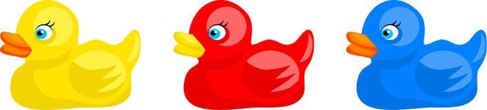 Patos de goma stock de ilustración