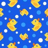 Patos de goma patern Imagen de archivo libre de regalías
