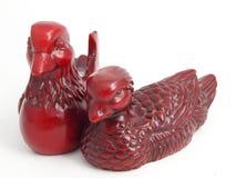 Patos de mandarín del netsuke del shui de Feng Fotografía de archivo libre de regalías