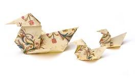 Patos de Origami Imagem de Stock Royalty Free