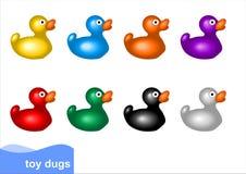 Patos del juguete Fotografía de archivo libre de regalías
