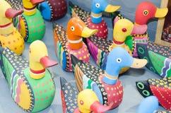 Patos feitos da madeira Fotografia de Stock Royalty Free