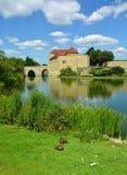patos Medieval hist?rico, Leeds Castle Kent Uk foto de stock royalty free