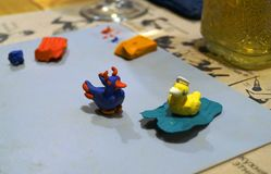 Patos santamente e maus da argila fotografia de stock