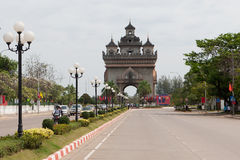Patouxai in Vientiane Stock Photos