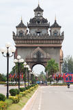 Patouxai in Vientiane Royalty Free Stock Photography