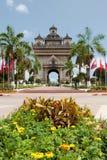 Patouxai in Vientiane Stock Image