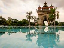 Patouxai Vientiane Laos Stock Photos
