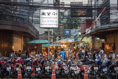 Patpong night market on silom road Stock Photos