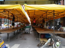 Patpong street in preparation for night market Royalty Free Stock Photography