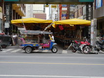Patpong street in preparation for night market Royalty Free Stock Photos