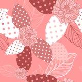 Patrón inconsútil floral del vector hermoso Foto de archivo libre de regalías