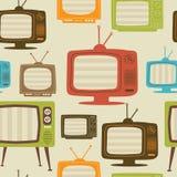 Patrón inconsútil retro de la TV. Ilustración del vector. Foto de archivo libre de regalías