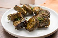 Indian food Patra or Paatra or Alu Vadi Royalty Free Stock Photography