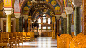 PATRAS, GRÈCE - 16 FÉVRIER 2016 : Basilique de St Andrew Photos stock