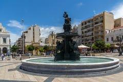 PATRAS, GRÈCE LE 28 MAI 2015 : Vue panoramique du Roi George I Square à Patras, Péloponnèse, Grèce photo libre de droits