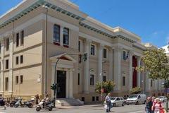 PATRAS, GRECJA MAY 28, 2015: Typowa ulica w Patras, Peloponnese, Grecja Obrazy Royalty Free