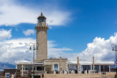 PATRAS, GREECE MAY 28, 2015: Amazing view of Lighthouse in Patras, Peloponnese, Greece Royalty Free Stock Images