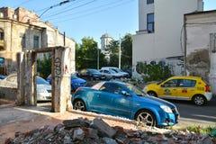 Patrascu Voda street in the historical center of Bucharest Stock Image