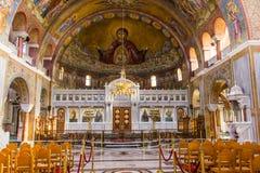 PATRASSO, GRECIA - 16 FEBBRAIO 2016: Basilica di St Andrew Immagini Stock Libere da Diritti