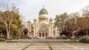 PATRASSO, GRECIA - 16 FEBBRAIO 2016: Basilica di St Andrew Immagine Stock Libera da Diritti