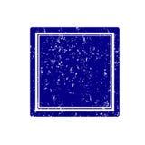 Patrat plin. Empty blue square stamp grunge Stock Photos