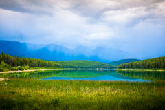 Patrcia lake in Jasper Stock Photos