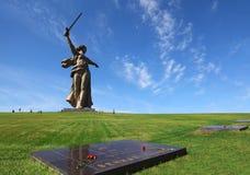 Patria del monumento en Stalingrad, Rusia foto de archivo libre de regalías