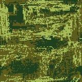 Patria protettiva del pixel di colorazione di verde del cammuffamento Vettore royalty illustrazione gratis