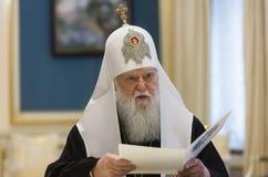 Patriarca de Kiev e de toda a Rússia-Ucrânia Filaret imagens de stock royalty free