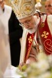 Patriarca de Maronite y Sfeir cardinal imagen de archivo