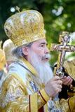Patriarca di Theophilus III del ritratto di Gerusalemme Fotografie Stock Libere da Diritti