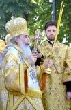 Patriarca di Theophilus III del ritratto di Gerusalemme Immagine Stock