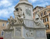 Patriarca Moses por Jacometti, base da coluna do monumento da concepção imaculada, Roma Imagens de Stock