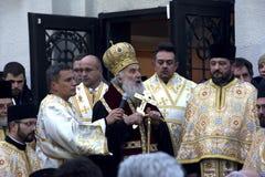 Patriarca sérvio Irinej Gavrilovic da igreja ortodoxa Fotos de Stock