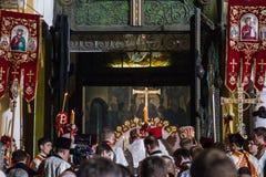 Patriarch Filaret. Pasen 2014 in de Oekraïne 22.04.2014 //St Volod Stock Fotografie