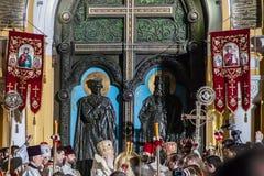Patriarch Filaret. Pasen 2014 in de Oekraïne 22.04.2014 //St Volod royalty-vrije stock afbeeldingen