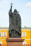 Patriarch Hermogenes monument in Moscow Stock Images