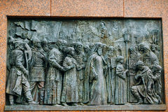 Patriarch Hermogenes monument in Moscow, Russia Stock Images