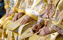 Patriarch Kirill and the other bishops on the liturgy in Kiev Royalty Free Stock Images