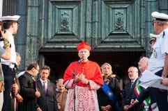 Patriarch Moraglia-Festa Del Redentore Stockfoto