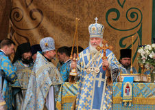 Patriarch of Moscow and All Russia Kirill celebrat Stock Photo