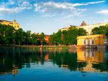 Patriarch Ponds. Moscow park with a lake Patriarchs Ponds stock image