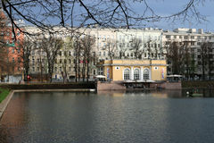 Patriarch's pond in Moscow Royalty Free Stock Photography