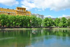 Patriarch's Ponds in Moscow Royalty Free Stock Image