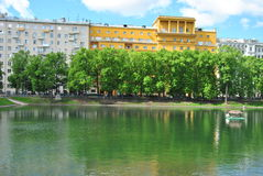 Patriarch's Ponds in Moscow Royalty Free Stock Photography