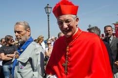 Patriarcha Francesco Moraglia Zdjęcia Royalty Free